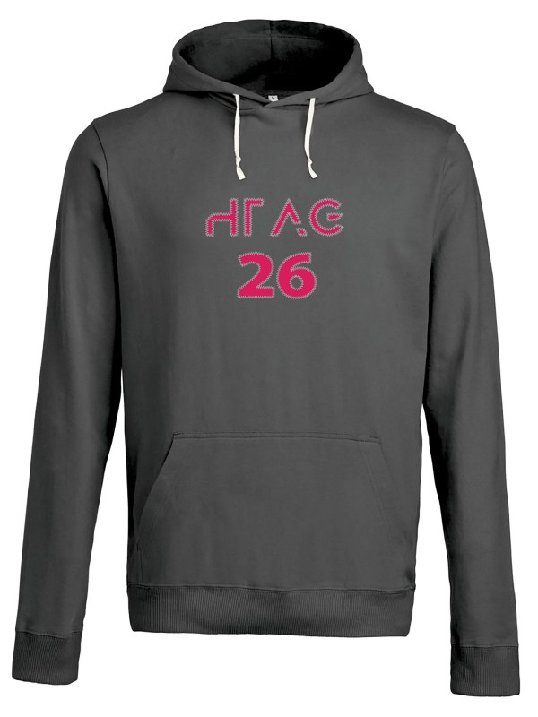 Sweat capuche Unisexe gris anthracite