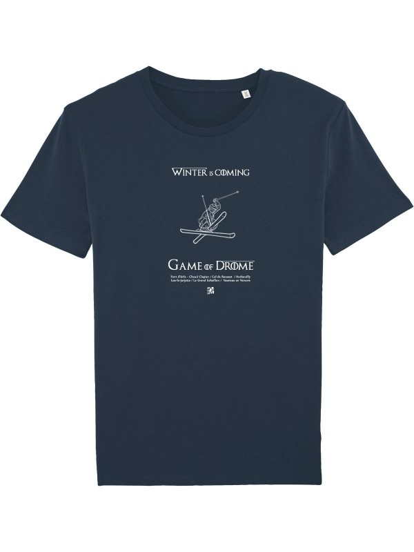 "T-shirt bleu marine ""GAME OF DROME"""